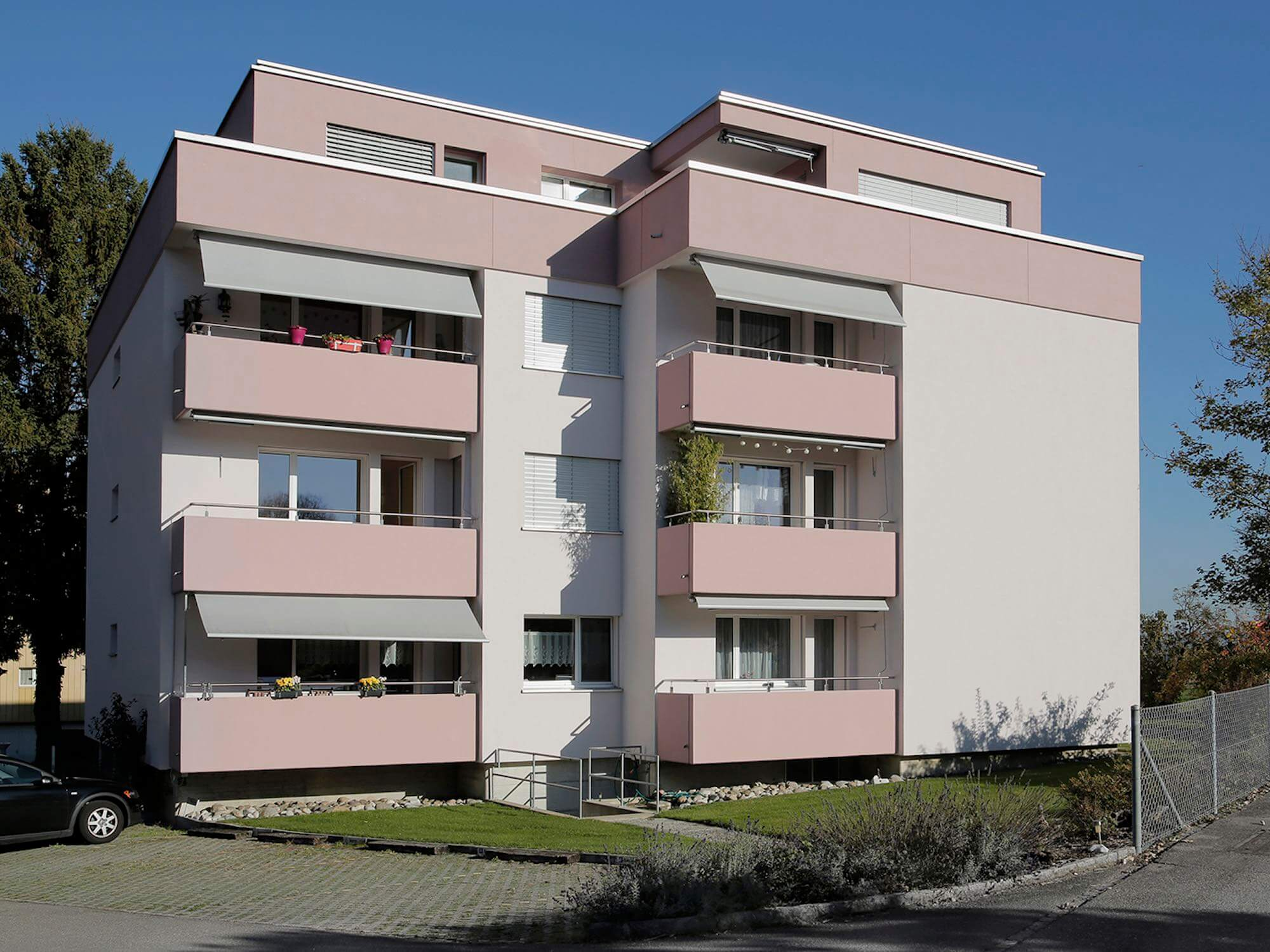 Fassadenisolation durch die Viktor Wyss AG in Flumenthal, Solothurn
